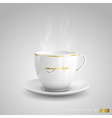 Hot drink vector image