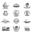 set of labels badges with school hand vector image