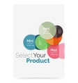 Option select infographic banner vector image