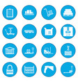 warehouse logistic storage icon blue vector image