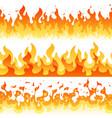 cartoon fire flame seamless frame borders vector image