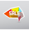 Colorful 3d Sale Tag Label Isolated on Grey vector image vector image