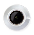 coffee cup on white background vector vector image vector image