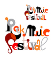 rock music festival vector image vector image