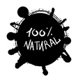 Eco Natural Lettering vector image