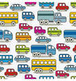 Cartoon retro cars seamless pattern vector image vector image
