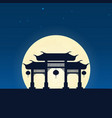 china silhouette of attraction travel banner with vector image