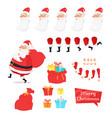 christmas set of santa claus part create character vector image