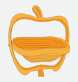 color image of a vase in the shape of an apple vector image
