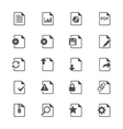 Document flat icons vector image