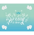 Spring typographic poster and logo vector image