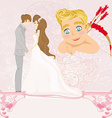 Valentines Day card with a romantic couple vector image