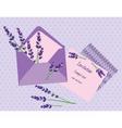 Purple Lavender Invitation Card vector image