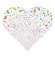vision fireworks heart vector image