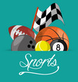differents balls to sport game competition vector image
