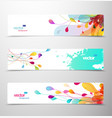 set of abstract colorful headers vector image vector image