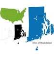 Rhode island map vector image