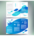 brochure geometric abstract element blue white vector image