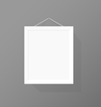 Blank picture frame on the wall vector image