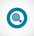search globe icon bold blue circle border vector image
