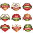 label assortment vector image