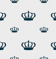 Crown icon sign Seamless pattern with geometric vector image