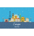 Travel to Europe for winter Merry Christmas vector image