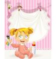 baby girl pink openwork announcement card vector image vector image