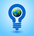Lightbulb earth vector image