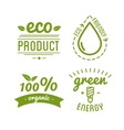 Set of organic food labels and design elements or vector image
