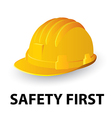 Yellow safety hard hat vector image
