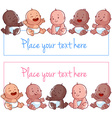 Cute little baby on a white background Blank vector image