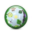Little planet 360 panorama concept Summer vector image