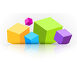 Background with cubes - for advertising vector image vector image