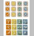 All Zodiac symbol icon vector image