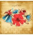 Vintage background flower decoration vector image