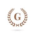 Letter G laurel wreath logo icon design template vector image