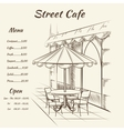 Hand drawn street cafe background vector image vector image