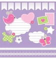 set of scrapbook elements vector image vector image