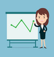 businesswomen present with board vector image