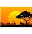 Cartoon collection animal in the africa vector image