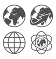 Globe earth icons set vector image