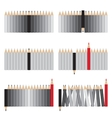 Gray and red pencils vector image