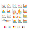 infographic collection of rising and falling vector image