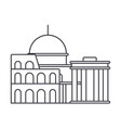 rome line icon sign on vector image