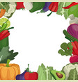 vegetables fresh ingredients image vector image