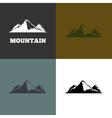 mountain silhouette vector image