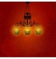 Vintage background with chandelier vector image