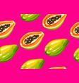 seamless pattern with papaya of vector image
