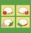 herbs and vegetables labels vector image